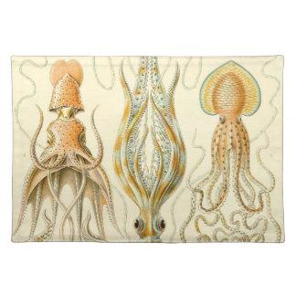 Vintage Haeckel Squid Placemat