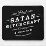 Vintage Hail Satan Salem Witchcraft Goth & Satanic Mouse Pads