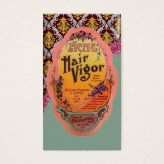 Vintage Hair Cream Poster Business Card
