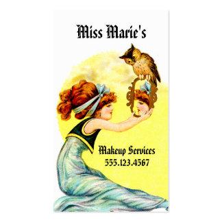 vintage hair stylist makeup artist cosmetology business card template