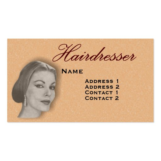 Vintage Hairdressers Profile Business Card #22 X