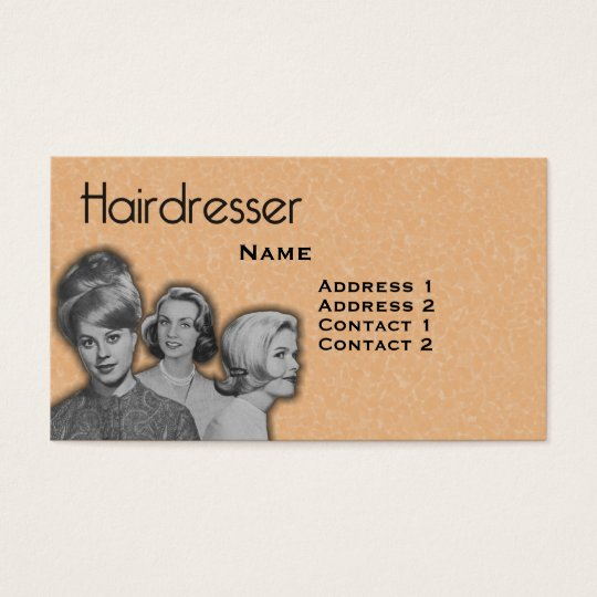 Vintage Hairdressers Profile Business Card #23 X
