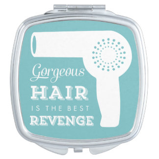 Vintage Hairdryer Mirror Compact Mirrors For Makeup