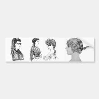 Vintage Hairstyle Bumper Sticker