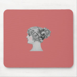 Vintage Hairstyle Mouse Pad