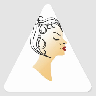 Vintage hairstyle triangle sticker