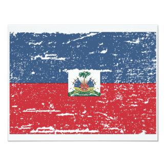 Vintage Haiti Flag Personalized Invite