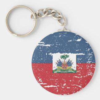 Vintage Haiti Flag Keychain