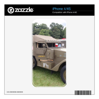 Vintage Half Track Decal For The iPhone 4