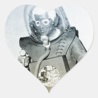 Vintage Halloween Alien Heart Sticker