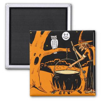 Vintage Halloween Art 2 Inch Square Magnet