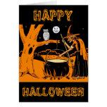 Vintage Halloween Art Card