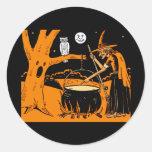 Vintage Halloween Art Classic Round Sticker