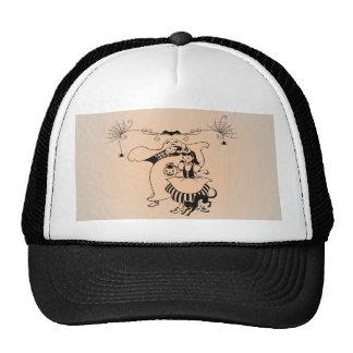 Vintage Halloween Art Gifts Mesh Hat