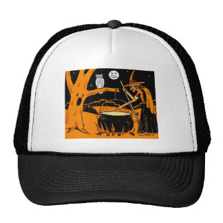 Vintage Halloween Art Mesh Hats