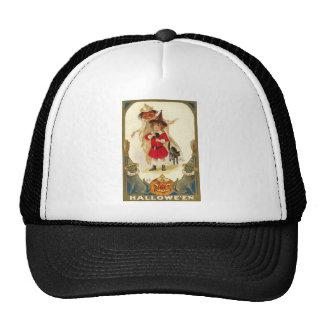Vintage Halloween Art Mesh Hat
