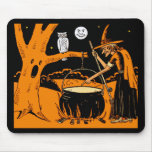 Vintage Halloween Art Mouse Pad