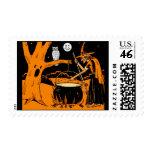 Vintage Halloween Art Postage Stamps