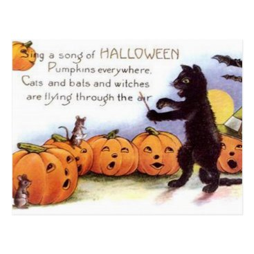 Halloween Themed Vintage Halloween Art Postcard