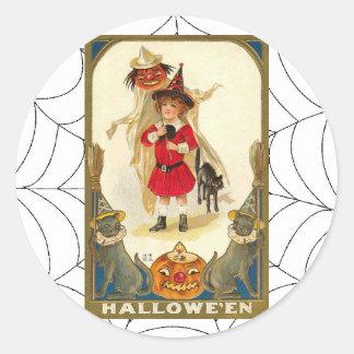 Vintage Halloween Art Stickers