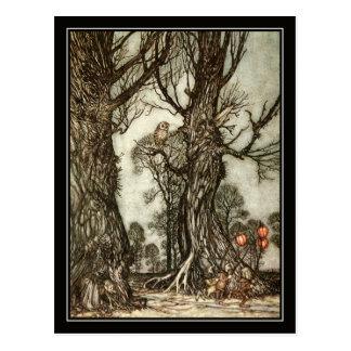 Vintage Halloween Arturo Rackham la bola de hadas Postales