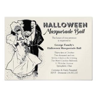 Vintage Halloween Ball Masquerade Party Invitation