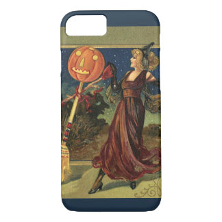 Vintage Halloween, Beautiful Dancing Witch iPhone 7 Case