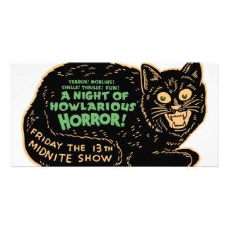 Vintage Halloween Black Cat Card