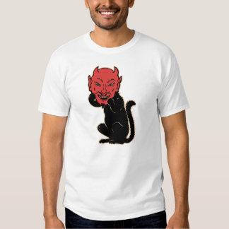 Vintage Halloween - Black Cat Devil T Shirt