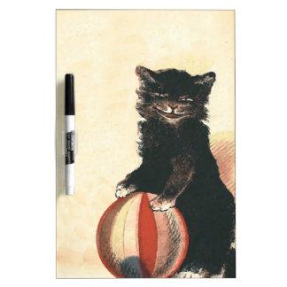 Vintage HALLOWEEN Black Cat Dry-Erase Board