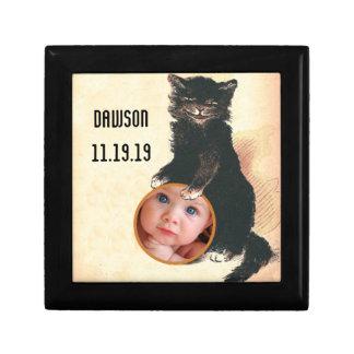 Vintage HALLOWEEN Black Cat Jewelry Boxes