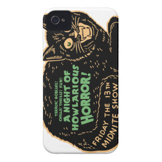 Vintage Halloween Black Cat iPhone 4 Cover