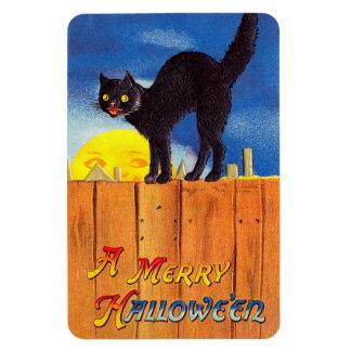 Vintage Halloween Black Cat Magnet