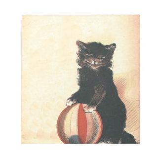 Vintage HALLOWEEN Black Cat Notepad