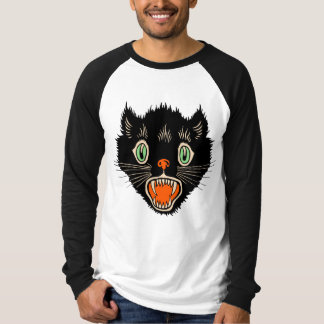 Vintage Halloween Black Cat Shirt