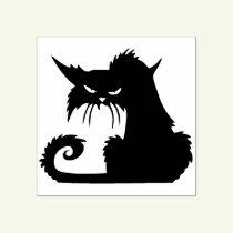 Vintage Halloween Black Cat Stamp