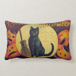 "Vintage Halloween Black Cat Throw Pillow<br><div class=""desc"">Vintage Halloween Black Cat Throw Pillow</div>"