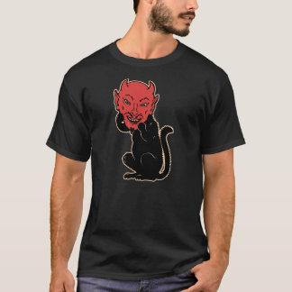 Vintage Halloween Black Cat Wearing a Devil Mask! T-Shirt