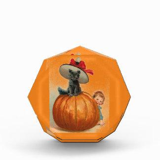 Vintage Halloween Black Cat Witch Hat Pumpkin Baby Awards