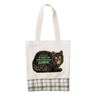 Vintage Halloween Black Cat Zazzle HEART Tote Bag