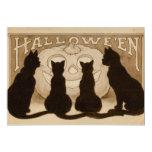 Vintage Halloween Black Cats Invitation card