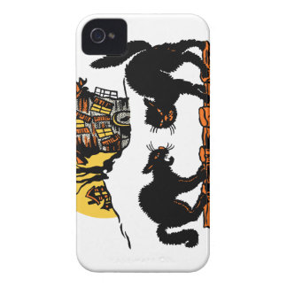Vintage Halloween Black Cats Trick or Treat iPhone 4 Case-Mate Case