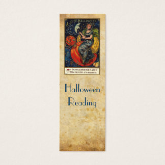 Vintage Halloween bookmark Mini Business Card
