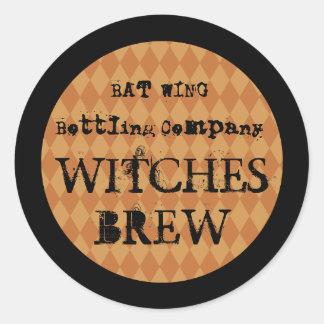 Vintage Halloween Bottle Label Stickers