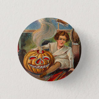 Vintage Halloween Boy Pinback Button