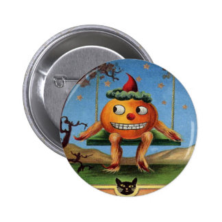 Vintage Halloween Pinback Buttons