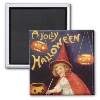 Vintage Halloween, calabazas de las linternas de J Imán Para Frigorifico