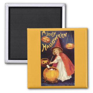 Vintage Halloween, calabazas de las linternas de J Imán De Frigorífico