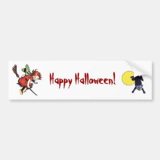 Vintage Halloween Car Bumper Sticker