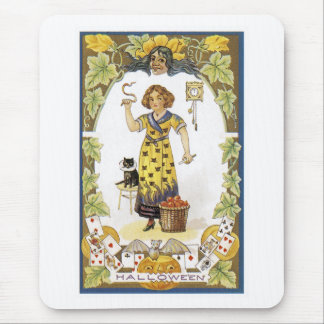 Vintage Halloween Card Mouse Pad